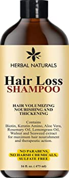 Herbal Naturals- Hair Loss Shampoo Hair Thickening Infused with Biotin