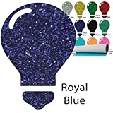 Color Theory Glitter Heat Transfer Vinyl (HTV) 20'' x 5yd Royal Blue