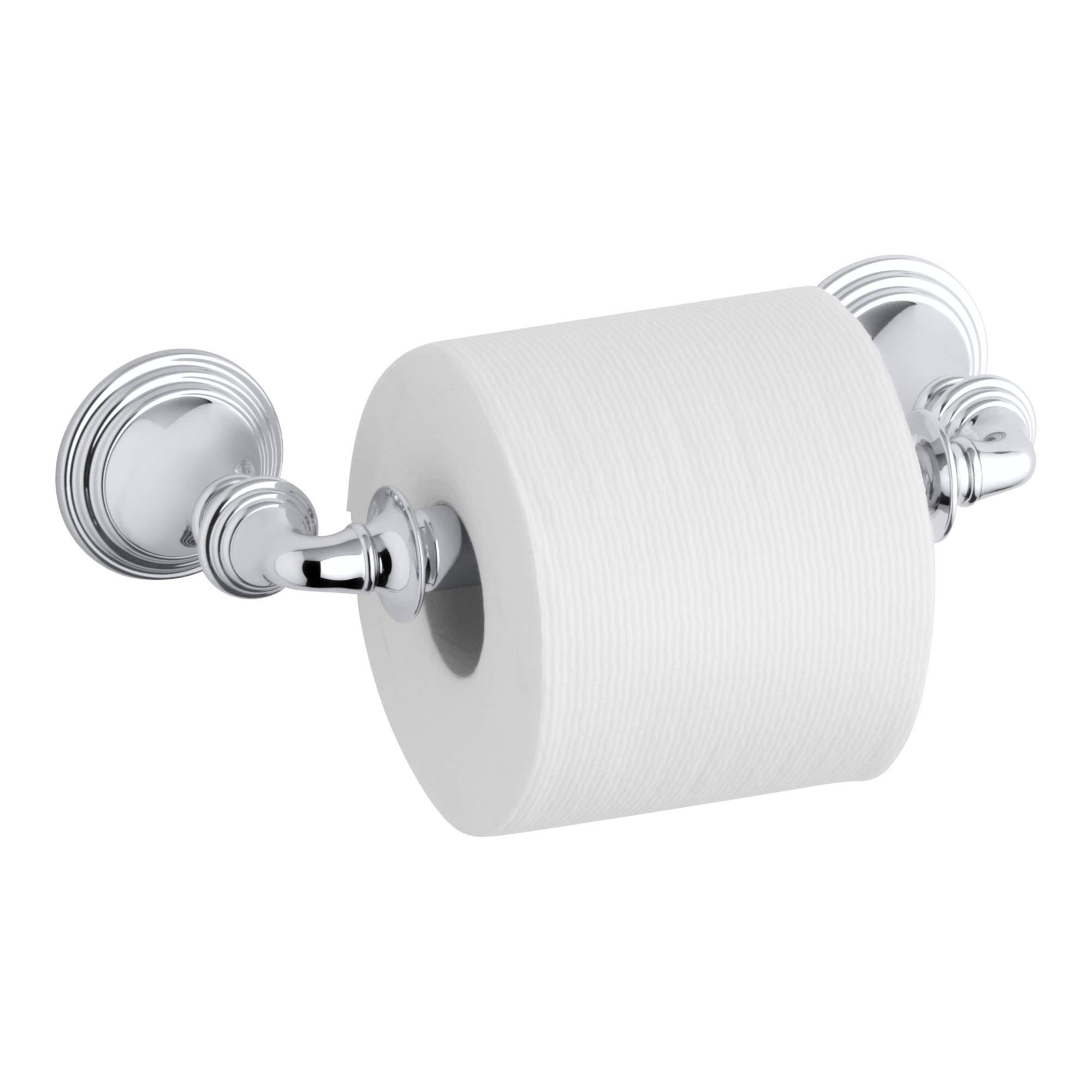 KOHLER Devonshire Toilet Paper Tissue Holder, Polished Chrome,  K-10554-CP by Kohler