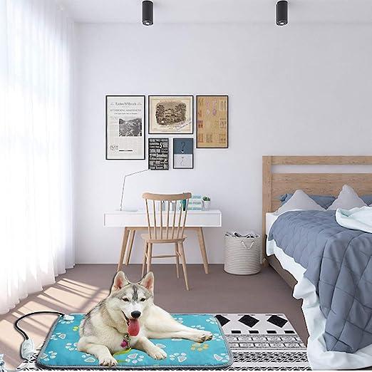 WUYANSE - Cojín Calefactor para Mascotas, Impermeable, con Cable antimasticable de bajo Voltaje, para Perros y Gatos: Amazon.es: Productos para mascotas