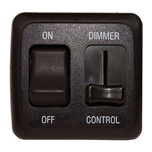 American Technology Components 12 Volt DC Dimmer Switch LED, Halogen, Incandescent - RV, Auto, Truck, Marine Strip Lighting (Large Slider, Black)