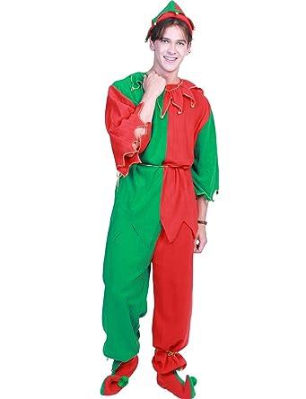 Amazon.com: Disfraz de Santa Helper para adulto, Navidad ...