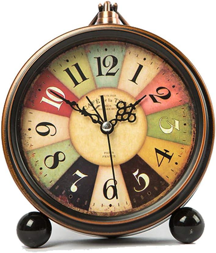 目覚まし時計 アイアンレトロ小さな目覚まし時計
