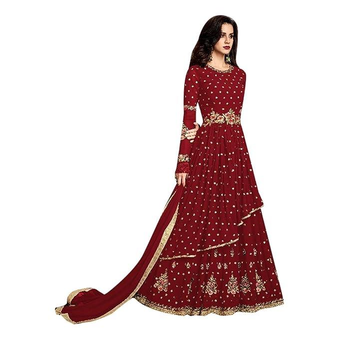 ETHNIC EMPORIUM Abito su misura per abito lungo musulmano Anarkali Salwar  Kameez Abito da sposa nuovo 5b0a1ed969b
