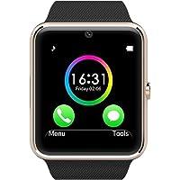 Smart Phone Watch with SIM Card and Memory Card (Bluetooth, Pedometer, Anti-loss, Camera)-Black