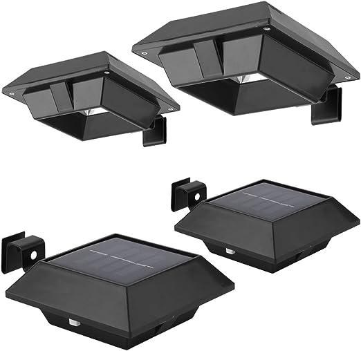 NUOVO 10 X Nero Luce Solare a LED Grondaia Recinto Luce Esterno Luce Giardino Luce