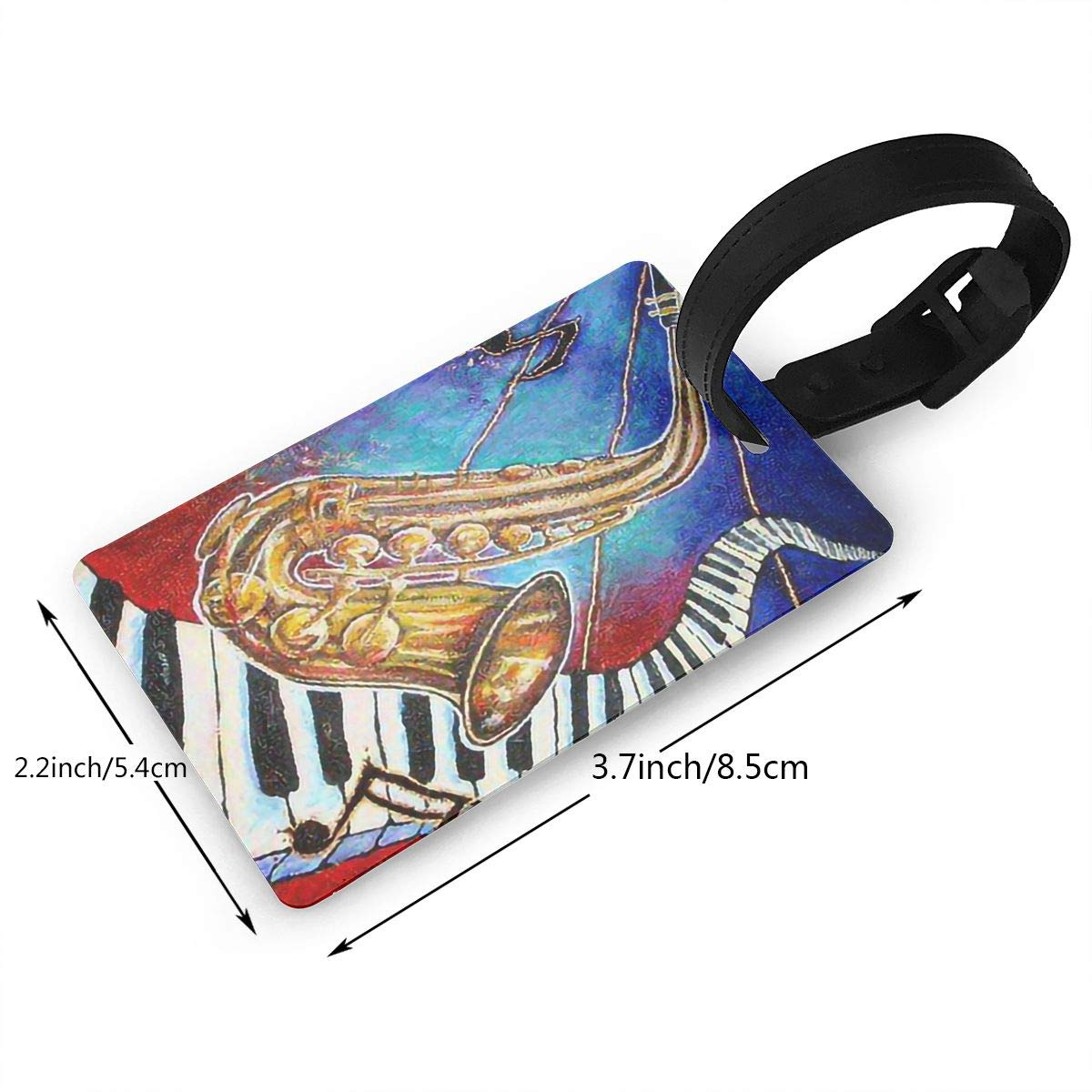 Saxophone Keyboard Travel Tags For Travel Tags Accessories 2 Pack Luggage Tags