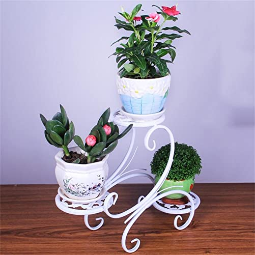 Plant Wrought Iron Flower Stand Mini Meat Desktop Flower Shelf Desk Sill TV Cabinet Bay Window Coffee Table Potted Small Ornaments Accessories Color White