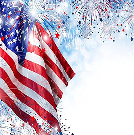 ofila american flag backdrop 7x7ft fireworks 4th of july independence day usa parade banner patriotic holidays