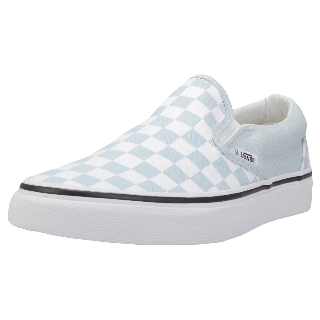 Vans Women's Classic Slip on Trainers, Blue ((Checkerboard) Baby Blue/True White Qck), 7 UK 40.5 EU