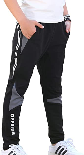 Dunpaiaa Kyuss Logo Boys Sweatpants,Joggers Sport Training Pants Trousers Black