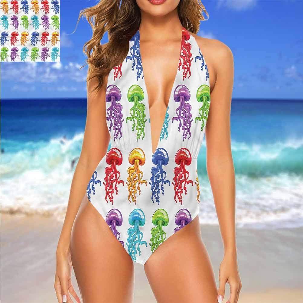 Bikinis Halter Maillot de bain Japonais, aquarelle motifs floraux Style très flatteur Multi 20