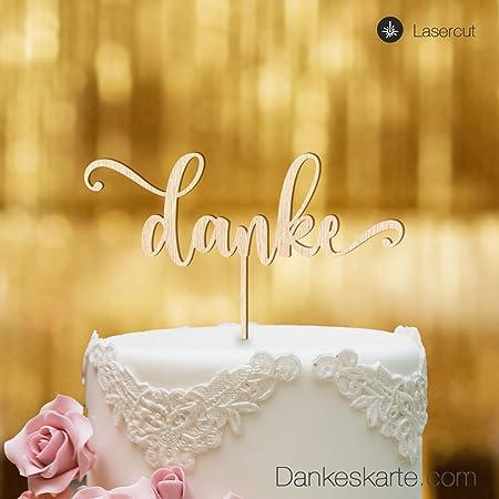 Cake Topper con Texto Danke - para la Tarta de cumpleaños ...