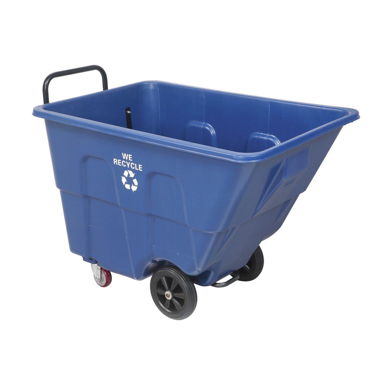 Recycling Tilt Truck, Blue, 1/2 Cubic Yard Capacity