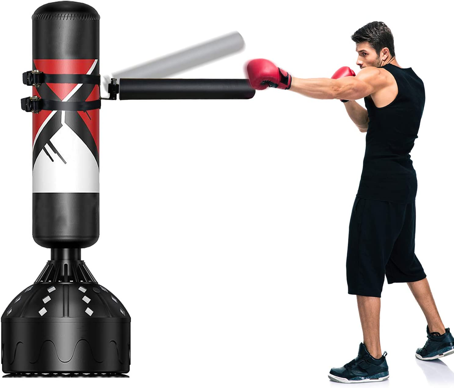 SYNTECSO Boxing Reflex Bar, Spinning Bar Martial Art for Punching Bag and Boxing Dummy : Sports & Outdoors