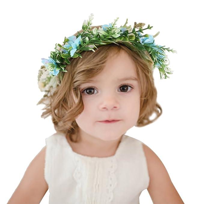 Eozy Eozy Blumenkranz Haare Kinder Madchen Haarband Blumen Stirnband