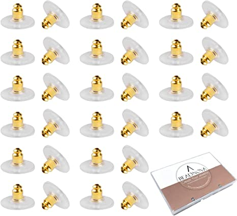 200 Pairs Earring Back Stoppers Gold And Silver Plated Earings Backs Pad
