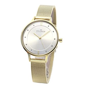 9895223c85 スカーゲン SKW2150 腕時計 ラインストーンインデックス メッシュストラップ(レディース) [並行輸入品]