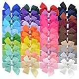 Amazon Price History for:40PCS 3 inch Grosgrain Ribbon Child Hair Bows in Pure Color With Clips 40 Colors Small Bow Kids Barrettes Pony Hair Accessories