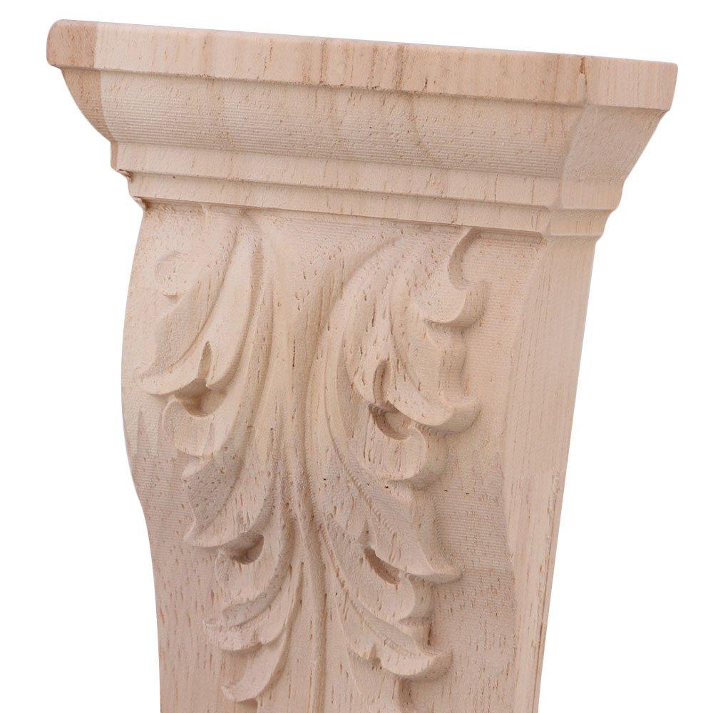 BQLZR 16 X 8 X 2.8 cm estilo europeo sin pintar muebles madera Onlay manualidades para el hogar restaurante puerta decoraci/ón juego de 4