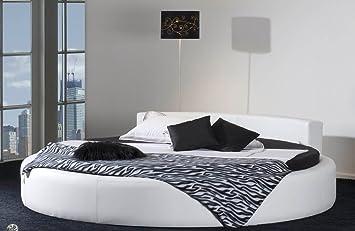 Rundes Bett CALIFORNIA in Ø 220 cm - komfortables Designerbett ...