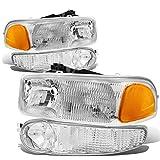 06 gmc yukon denali - GMC Sierra / Yukon Denali OE Style 4pcs Headlight + Bumper Light/Lamp