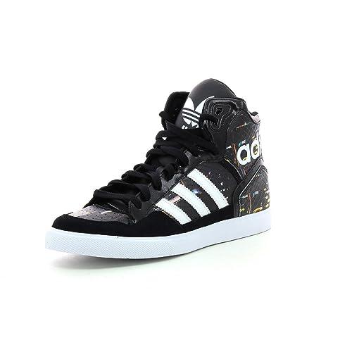 5cc2e87f9a9591 adidas Originals Extaball W Damen-Sneaker B35643 Core Black White Gr. 40 (