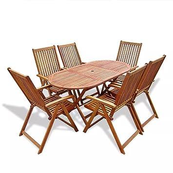 Furnituredeals mesa y sillas plegables para exterior Comedor ...