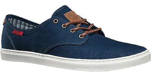 6c2aeee122 Vans Men s Ludlow Skateboarding Shoe (Canvas) Dress Blue White (8 B(