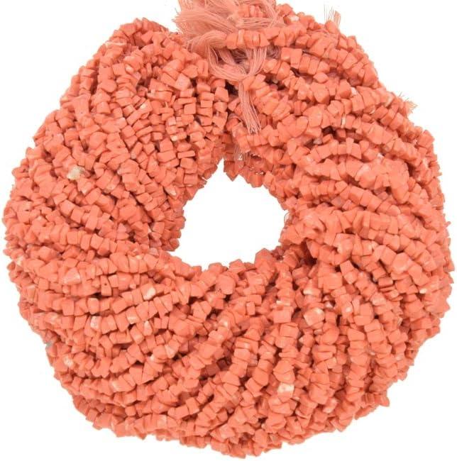 ShreeCrystalsBeads - Cuentas de coralina de color rojo para hacer joyas, forma libre, chips de coral, 10 hebras de 34 pulgadas de longitud