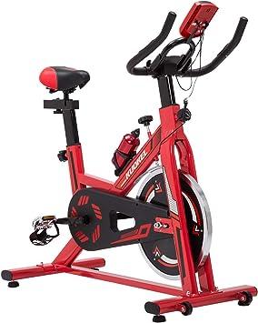 KUOKEL Esercizio di Bicicletta Fit Bicicletta Spinning Bike Professionale Cyclette Professionale Formazione Esercizio Ciclo Fitness Cardio Allenamento Casa Ciclismo Corsa Macchina Uomo Donna