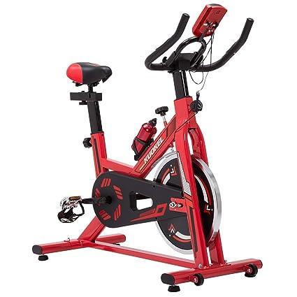 Bicicleta estática con Rueda de inercia, Asiento y Manillar Ajustables