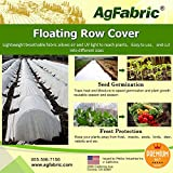 Agfabric Warm Worth Heavy Floating Row Cover & Plant Blanket, 0.9oz Fabric of 10x50ft for Frost Protection, Harsh Weather Resistance& Seed Germination