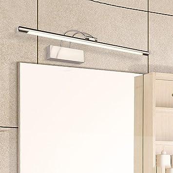 La luz del espejo Lámpara Frontal con Espejo LED, lámpara de baño a Prueba de Agua Luces de baño (Tamaño : 14W/65CM): Amazon.es: Hogar