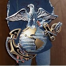 "USMC Globe and Anchor Metal Sign 19"" x 19"""