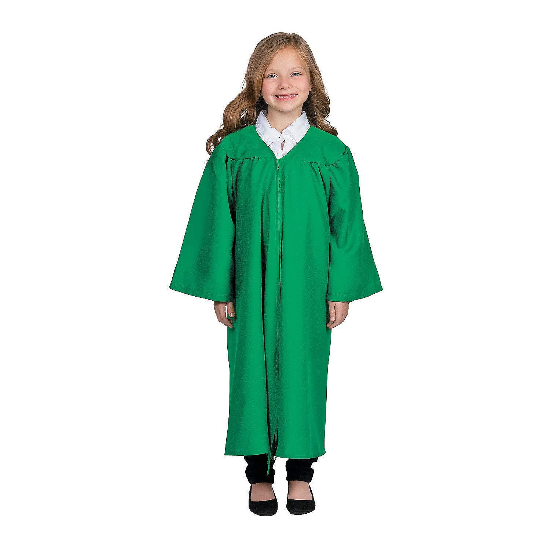 Fun Express Kids' Green Matte Elementary School Graduation Robe by Fun Express