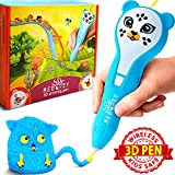 3D Pen for Kids – 3D Printing Doodler Pen Set – Preschool Learning Toys for Girls Boys and Teens – 3D Drawing Doodle Starter Kit – Cute Gifts 3D Printer for Kids – Best Selling Craft Tool Kits (Blue)