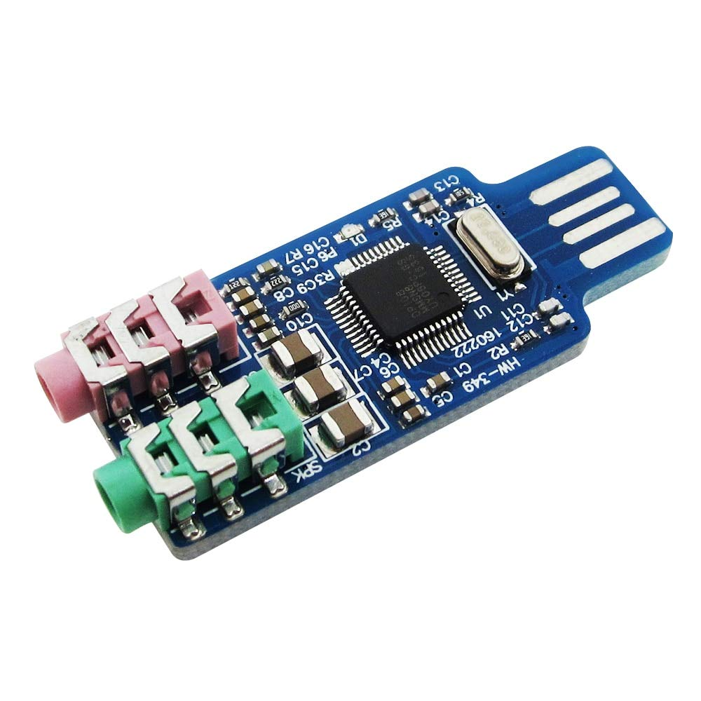 Zamtac New 5PCS CM108 USB Drive Free USB Sound Card Laptop Computer External Sound Card Module