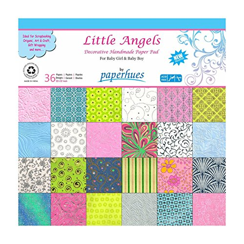 (Paperhues 'Little Angels' Decorative Paper Pad, 36 Sheets, 12x12