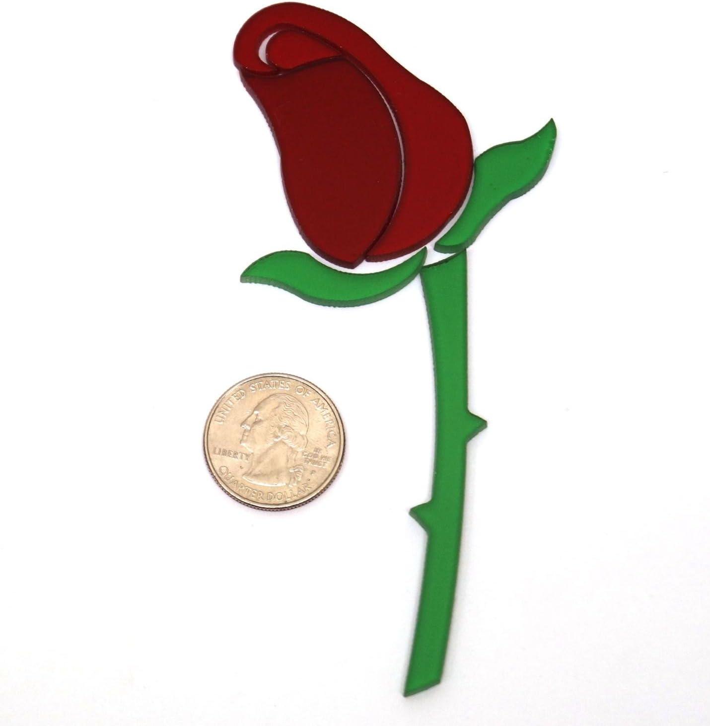 Red Rosebud Fusible Pre-Cut 96 Coe