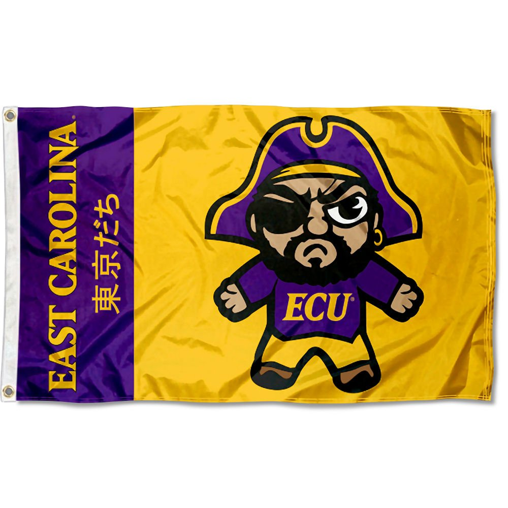 Sewing Concepts East Carolina Pirates Kawaii Tokyodachi Mascot Flag
