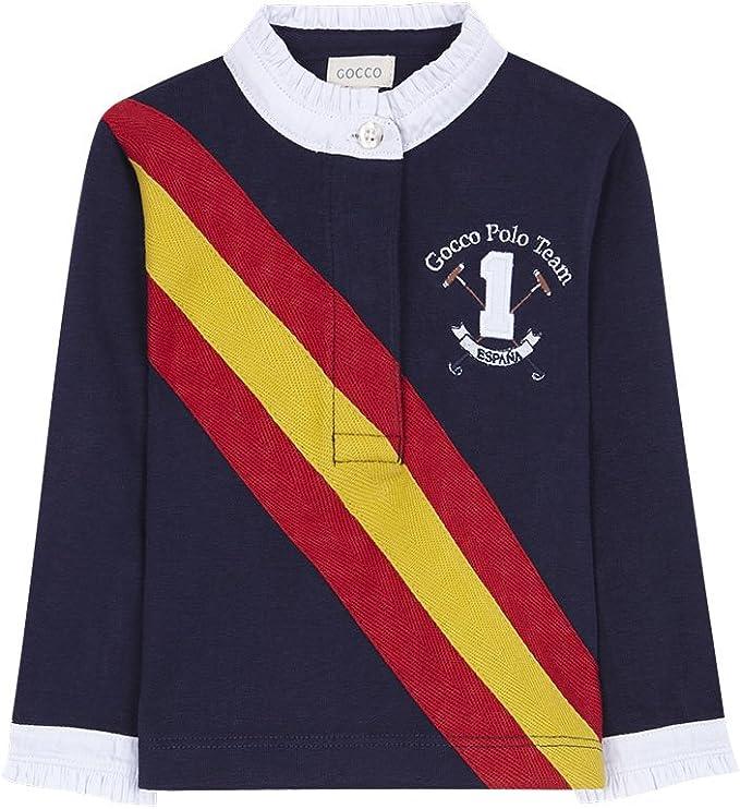 Gocco Polo Bandera España Polo, Bebé-Niñas, Azul (Marino A4), 86 ...
