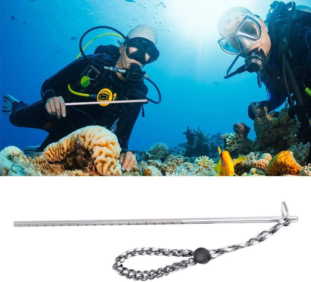 Keenso Pointer Stick Noise Maker Scuba Diving Edelstahl Pointer mit Fallschirm-Lanyard