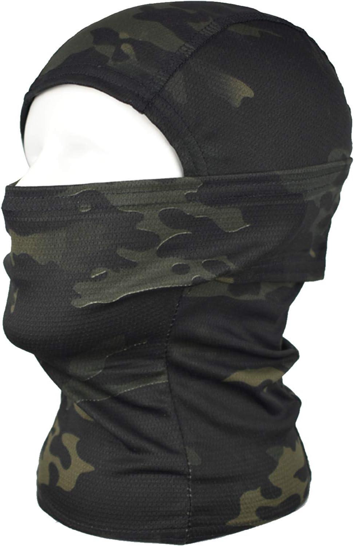 QMFIVE Pasamonta/ñas M/áscara Camuflage Cara Completa Militar T/áctico Capucha De Ninja Caza Ciclismo M/áscara Camuflaje