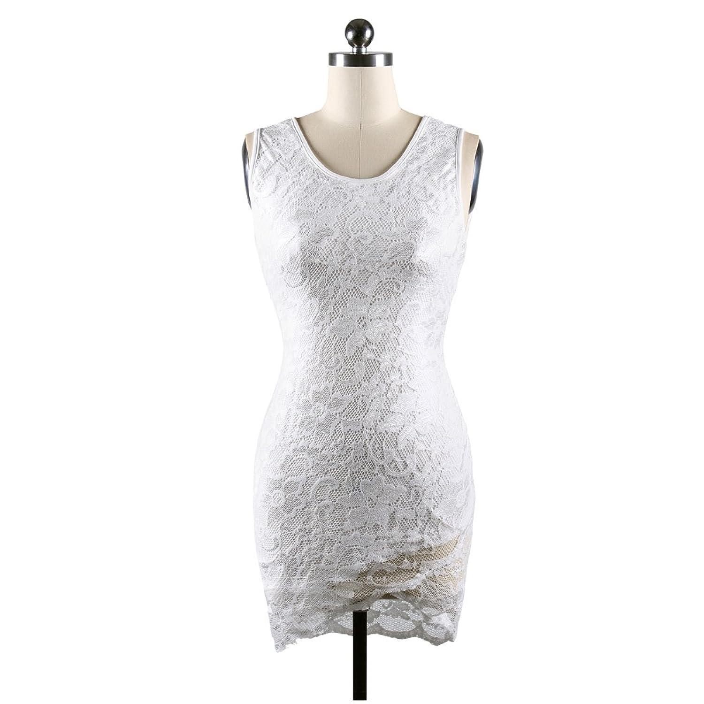 ZHXH Women's Midi Dress Slimming Full Lace Party Cocktail Dress