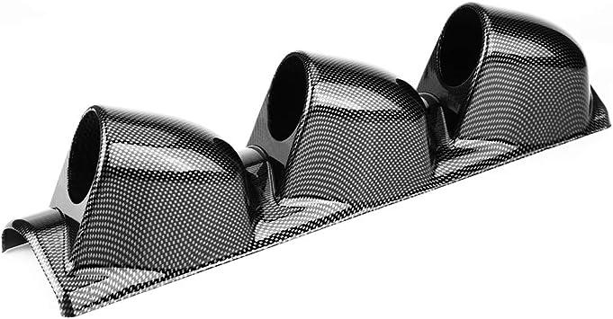 Carbon fiber Style ABS 52mm Car Pillar Pod 3 Triple Holes Gauge Holder Mount Pod