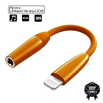 Adaptador de Auriculares para iPhone 8 Cargador de Coche ...