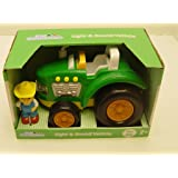 Kid Connection Light & Sound Green Tractor with Farmer Figure