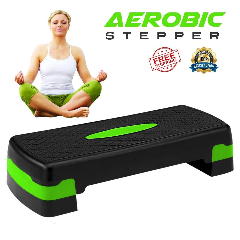 Onex Cardiovascular Aerobic Stepper ABS Platform Exercise Fitness Yoga Steppers Gym Home Cardio Pilates Workout Step Block