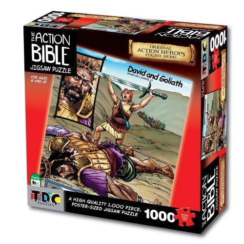 David and Goliath 1000-Piece Puzzle by TDC Games